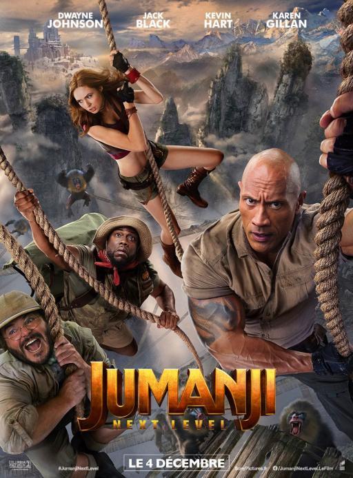 Affiche du film Jumanji: next level - actuellement en salle au cinéma Madiana