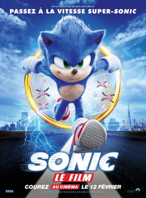 Affiche du film Sonic le film - actuellement en salle au cinéma Madiana