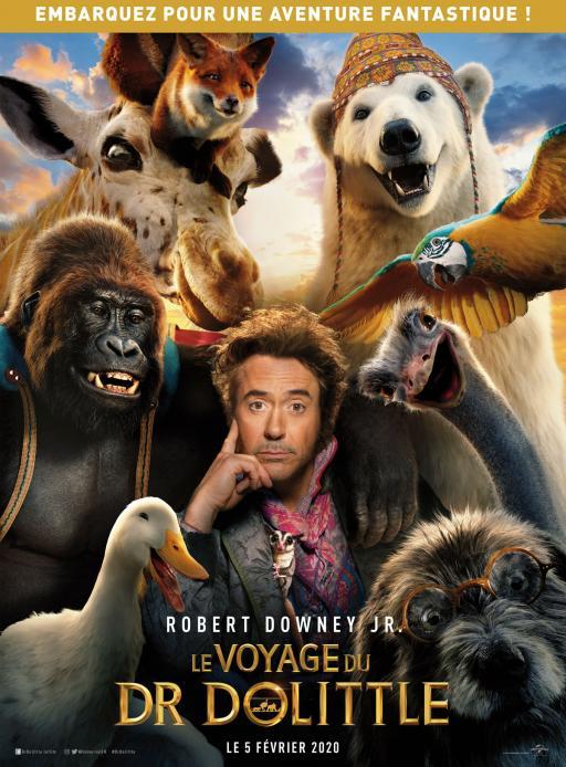 Affiche du film Le Voyage du Dr Dolittle - actuellement en salle au cinéma Madiana